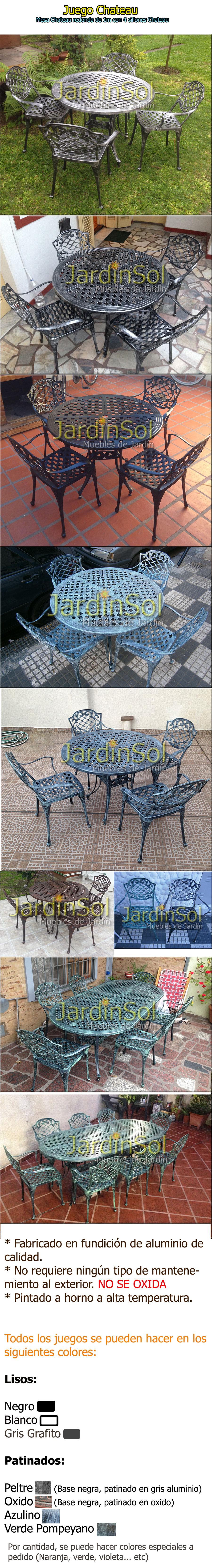 chateau nuevo mercadolibre jardinsol fundicion de aluminio mesa 1m