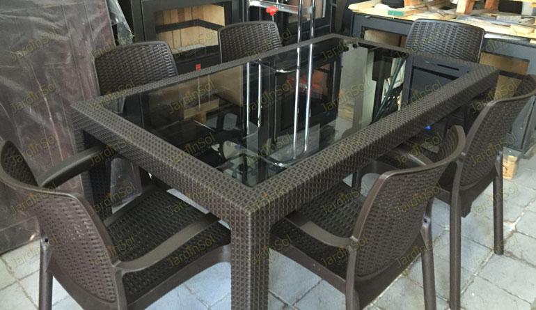 Jardinsol mesas y sillas en ratt n sint tico - Mesas de rattan ...